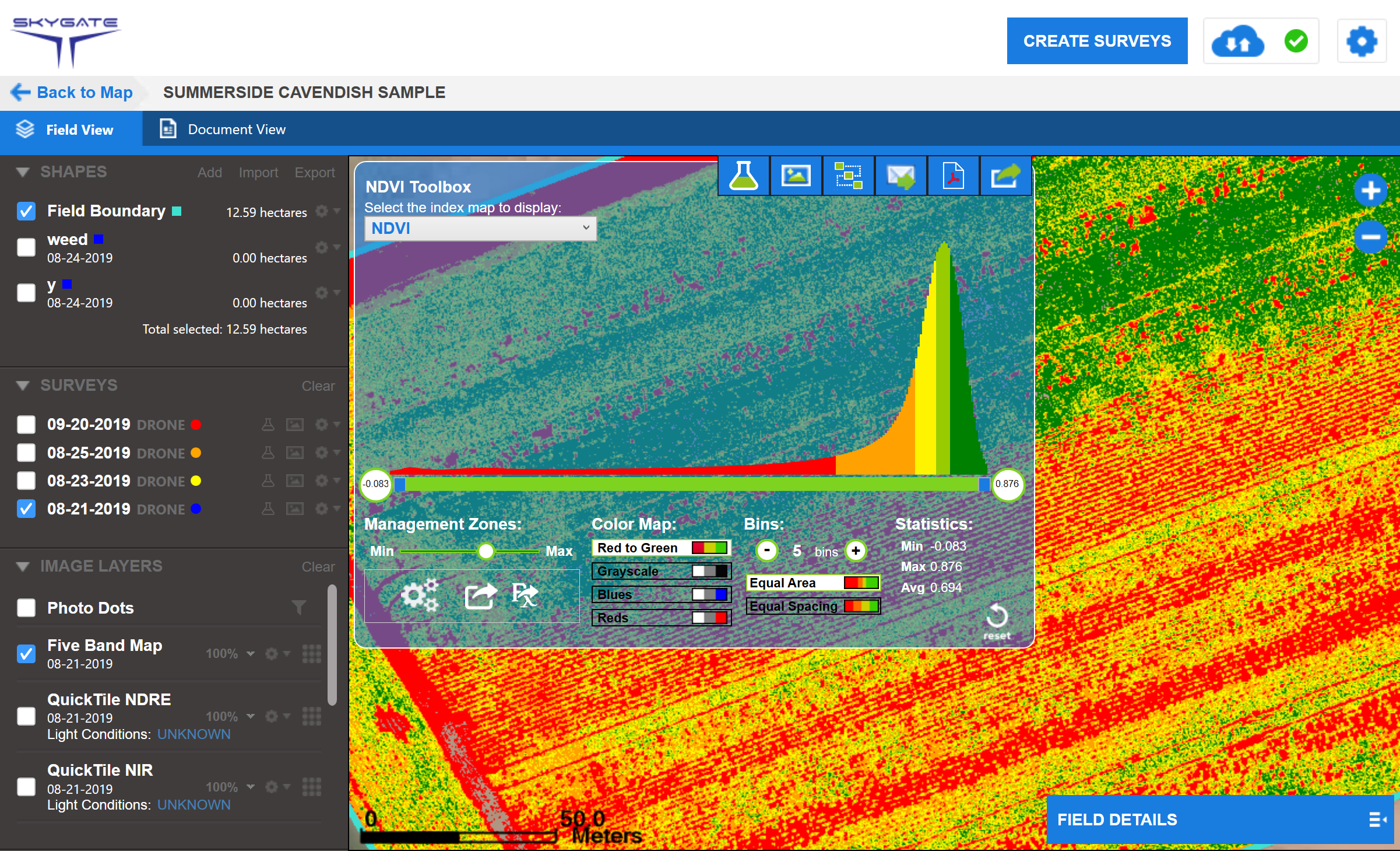 Skygate NDVI FieldAgent Viewer